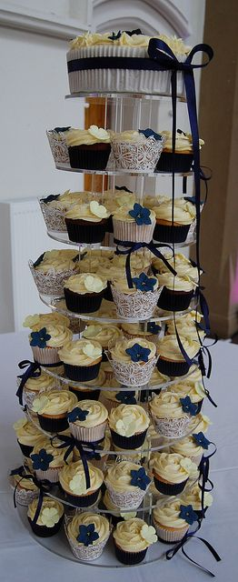 #blue wedding cupcakes ... Wedding ideas for brides & grooms, bridesmaids & groomsmen, parents & planners ... itunes.apple.com/... The Gold Wedding Planner iPhone App ♥