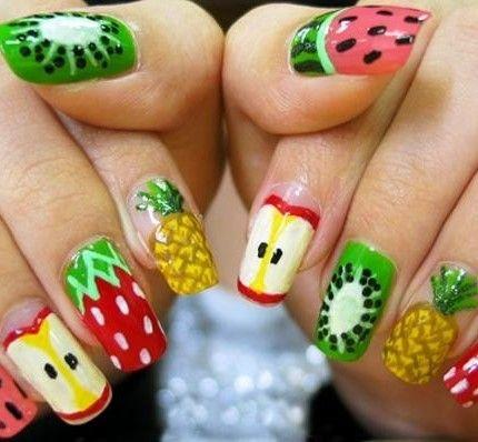 "Nail art degradé e \""a tema frutta\""?"