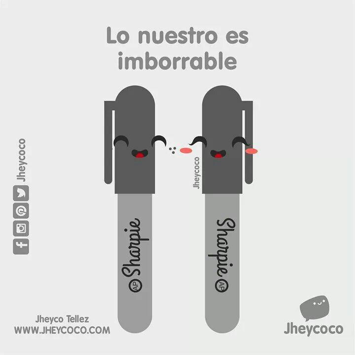 Etiqueta a tu pareja imborrable! ☺ #jheycoco #humor #cute #ilustracion #kawai…