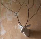 Add a Branch Ceramic Mounted Deer Head