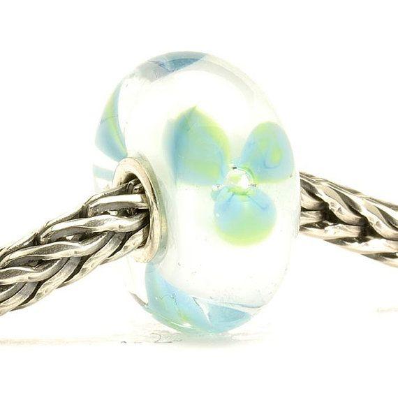 Authentic Trollbead  Ice Blue Flower Retired