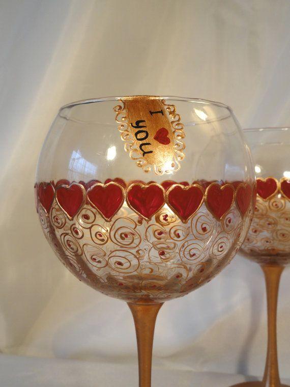 Pictate manual Set Ziua Vinului Ochelari Îndrăgostiților de 2 de HiMaria