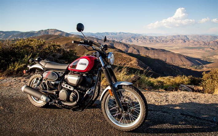 Download imagens A Yamaha SCR950, 4k, 2017 motos, estrada, novo SCR950, japonês motocicletas, Yamaha