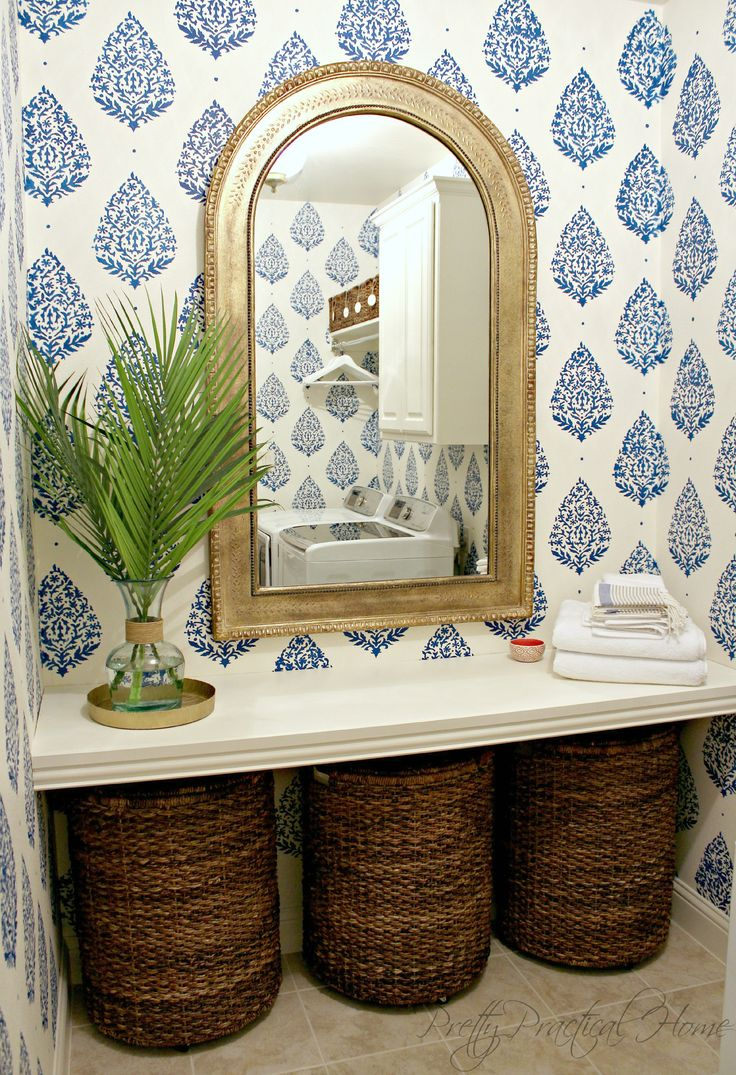 Kids Bathroom Design Laundry Baskets And Counter Space