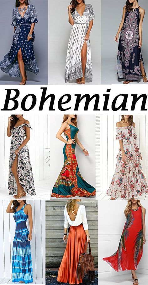 Bohemian Style Tie Belt High Slit Dress