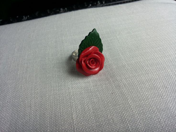 anillo rosa roja de ARTPERSONAL por DaWanda.com
