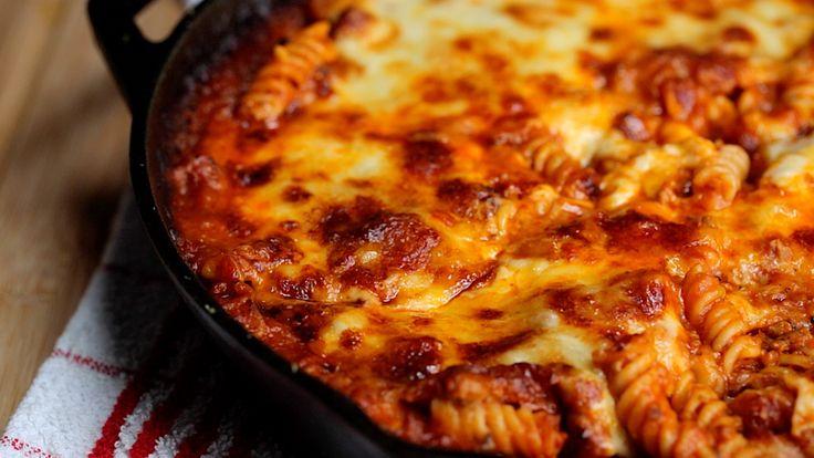 Skillet Sausage Pasta Bake