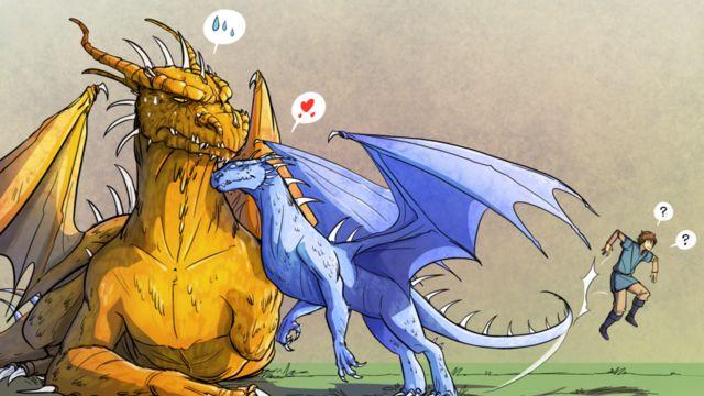 Glaedr and Saphira poor Eragon :):)