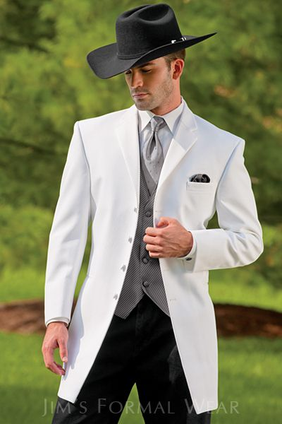 Cowboy wedding outfit....hmmmm some ideas he promised me a Tux