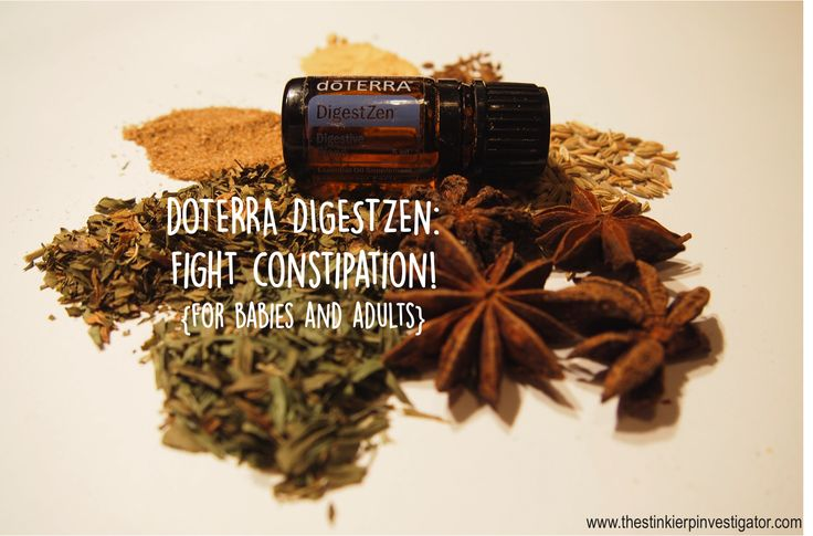 doTERRA essential oils DigestZen for constipation relief. For babies and adults.