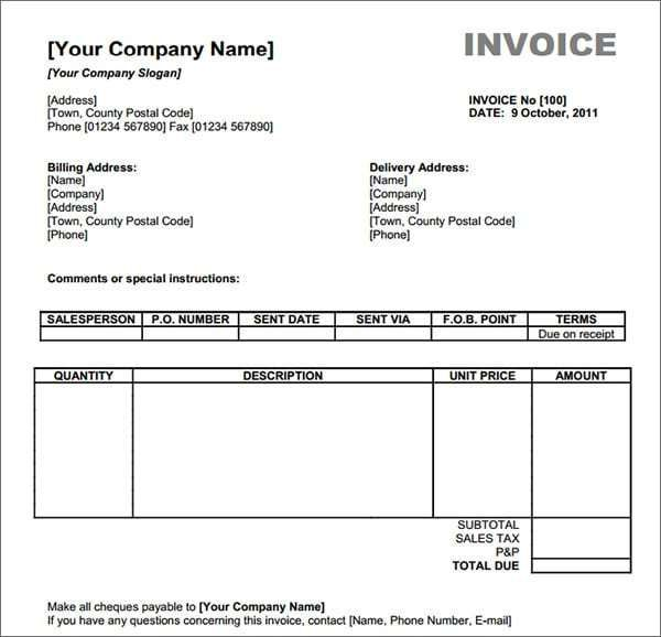 Invoice Template 6 Invoice Template Word Microsoft Word Invoice Template Invoice Template