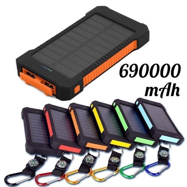690 000mah Portable Outdoor Waterproof Polymer Universal Solar Power Bank For Mobile Phone Universal Solar Power Solar Portable Charger