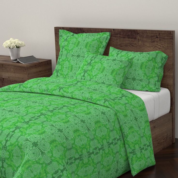 Wyandotte Duvet Cover featuring Ulva Dantela Lace by joancaronil | Roostery Home Decor