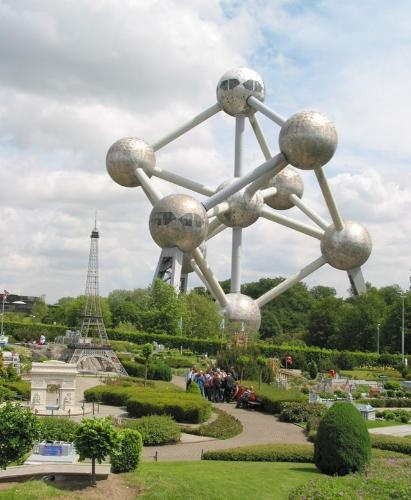 Mini Europe with Atomium in background, Brussels