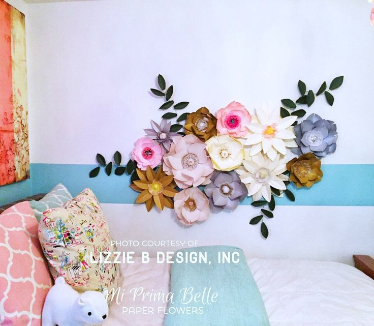 Paper Flowers For A Girlu0027s Bedroom Or Playroom Wall Decor/birthday Party  Props/wedding Or Event Backdrop/photography Props/baby Nursery