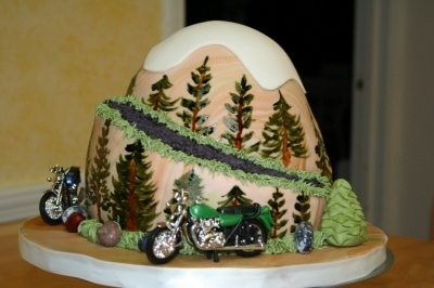 Mountain cake By sidcaes on CakeCentral.com