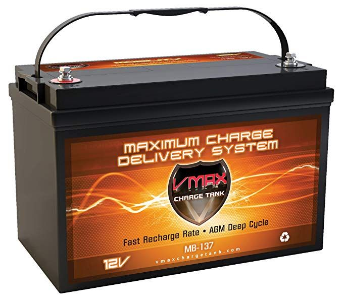Vmaxmb137 Agm Deep Cycle Group 31 Battery Replacement For Interstate Dcm0100l 12v 120ah Wheelchair Battery Review Solar Battery Backup Generator Deep Cycle Battery