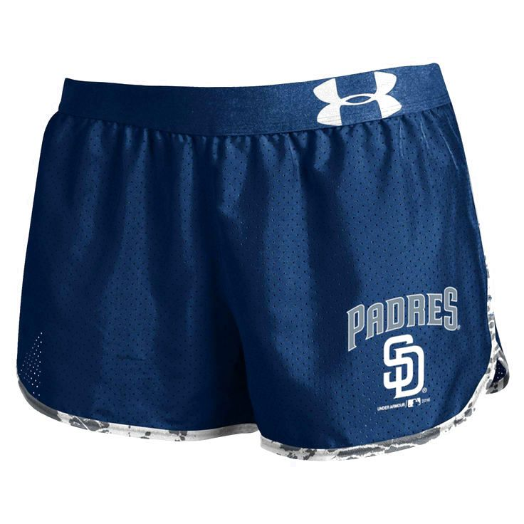 San Diego Padres Under Armour Women's Tied Up Performance Running Shorts - Navy - $36.99