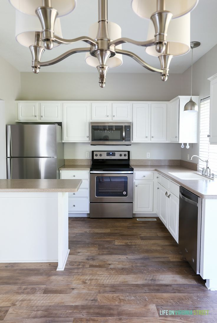 Best The Rental House Reveal Grey Kitchen Walls Agreeable 400 x 300