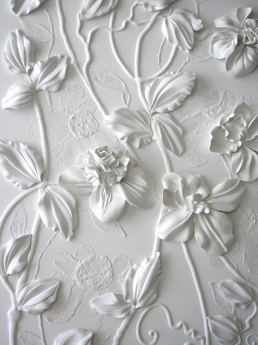 Captivating Wall Art By Olefir Design: Done With Plaster Thru Cake Decor Bags And Tips.