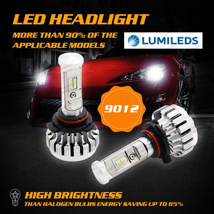 36.98$  Buy now - http://alivc3.shopchina.info/go.php?t=32803836251 - 2x9012 LED Headlight Bulbs For Philips Auto Head Lamp Bulb Replacement Kit 80W White Light Source General Decoding Canbus Light  #buymethat