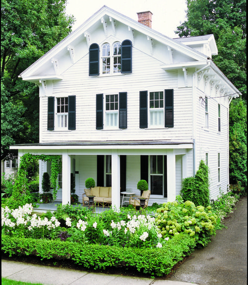 charming: White Houses, Dream Homes, Exterior, Dream House, Front Yard, Curb Appeal