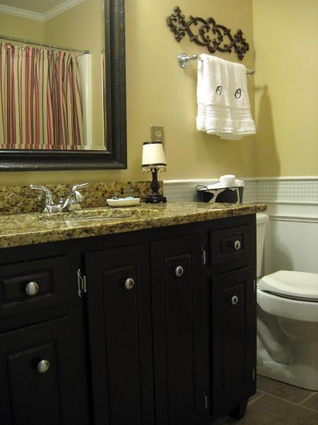 Hall Bathroom Budget Redo I Painted The Base Cabinet A