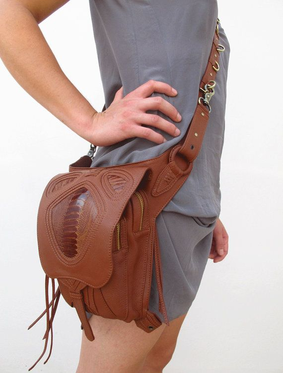 Brown Leather holster leather utility belt festival by Soulindha