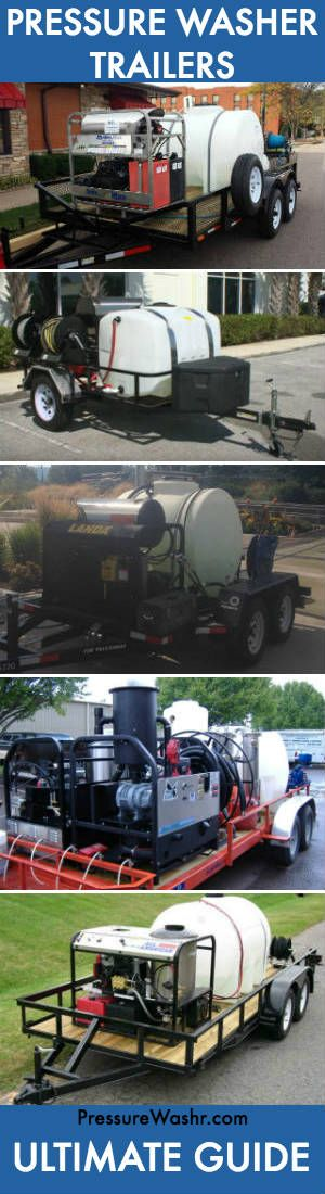 We share a ton of pressure washing before after results here... But about behind the scenes. What does the equipment doing the cleaning look like? Here are some mobile pressure wash trailers and rigs that get the job done for their owners.