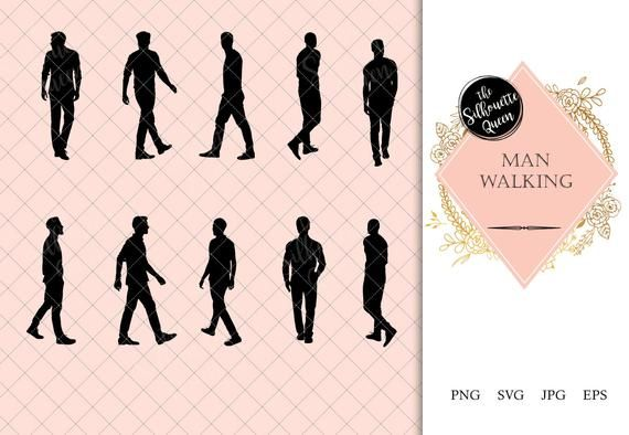 Pin On People Silhouette