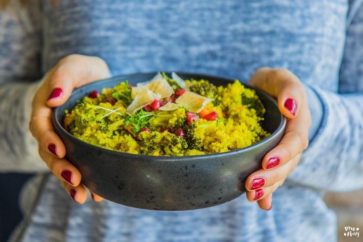 Gesundes Quinoa Brokkoli Risotto vegan