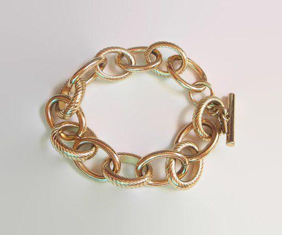 The Bassett Jewelry Company Toggle Bracelet, Chunky Gold