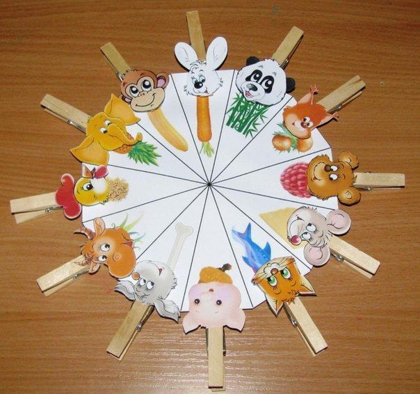U can write herbivores, carnivores... On the wheel, and the animals on the pegs.