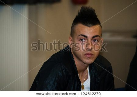 stock photo : MILAN, ITALY - MARCH 22: Stephan Kareem El Shaarawy in Milan March 22, 2012. Stephan Kareem El Shaarawy is an Italian soccer player, striker for AC Milan and the Italian national team