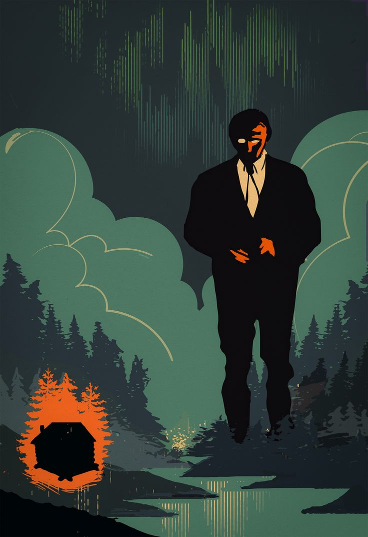 "Cover/poster art for Tango project ""Glød"". Finnish dude alone in the woods in his best suit. #olekristianøye #illustration #art #tango"