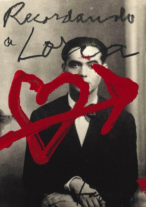 AntonioTàpies sobre una fotografía de García Lorca