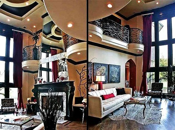 French Gothic Decorating Ideas | Gothic living rooms ...