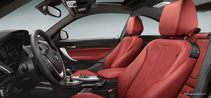 The 2 Series with Coral Red Dakota leather interior.