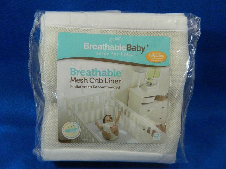 Breathable Baby Mesh Crib Bumper Cream Liner New  #BreathableBaby