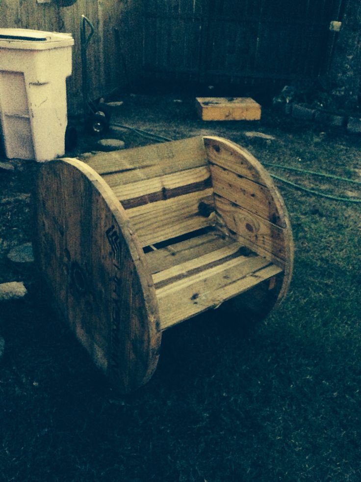 Wire spool chair