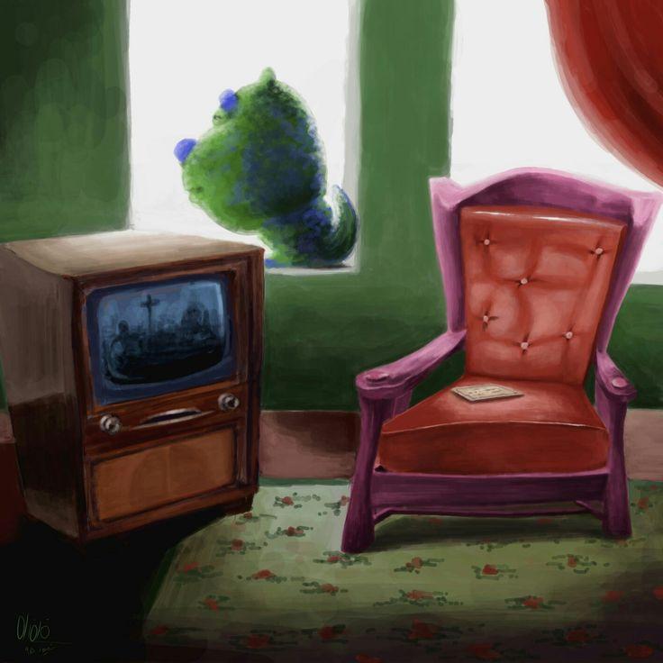 #livingroom #concept #illustration #digital2d #fantasy #sketch #monster #fazelehart