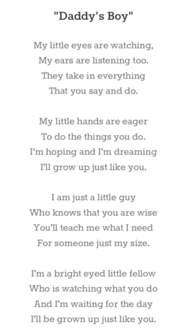 A Poem For Daddy...