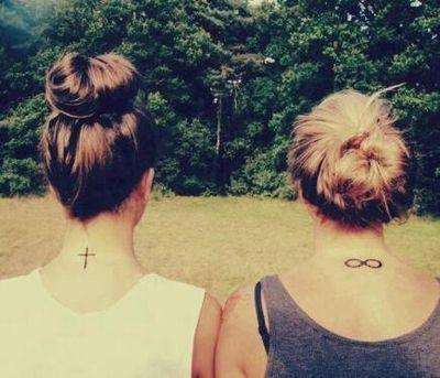 Infinity/cross/tattoo/friend