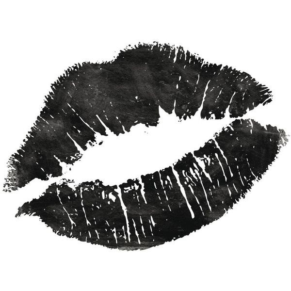 Fashion Print Black and White Lips Home Decor Typography Quote Fashion... (12 AUD) ❤ liked on Polyvore