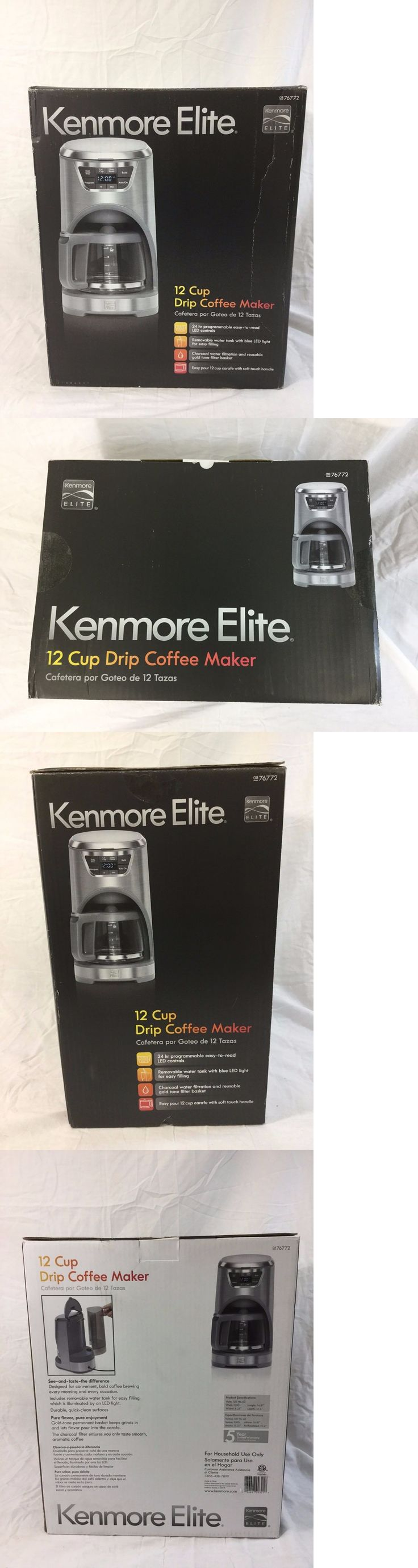 appliances: Kenmore Elite 12 Cup Drip Coffee Maker - Stainless Steel (Model 76772) -> BUY IT NOW ONLY: $69.99 on eBay!