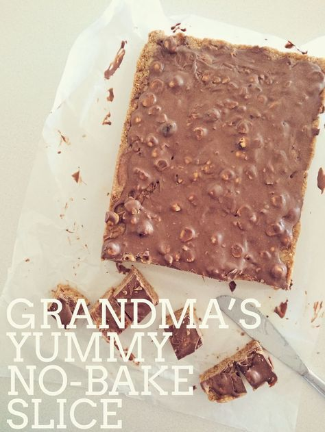 Grandma's no-bake chocolate slice - Fat Mum Slim