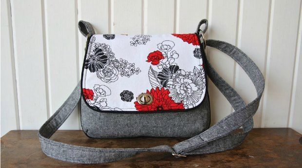 This mini messenger is a quick, easy sew with fun details such as piping and a twist lock closure on the flap. The flap is the perfect size to show off a small piece of your favourite fabric…