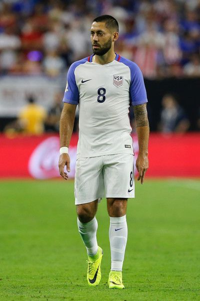 Clint Dempsey #8 of United States reacts in the first half against Argentina during a 2016 Copa America Centenario Semifinal match at NRG Stadium on June 21, 2016 in Houston, Texas.