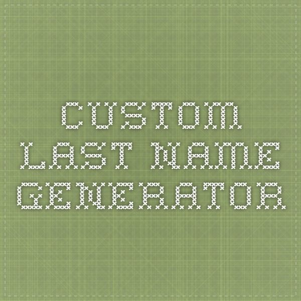 Custom last name generator. Super easy. Just type the first name of the character then click generate until you find the perfect last name!