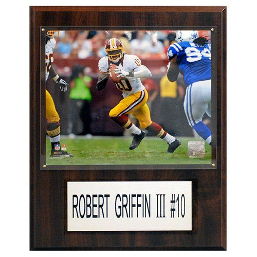 C and I Collectables NFL 15W x 12H in. Robert Griffin III Washington Redskins Player Plaque - 1215RG3H